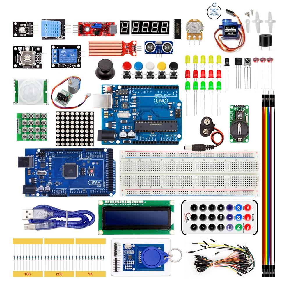 Starter Kit Für Arduino UNO R3 und Mega2560 Foren Mit Sensor Moudle 1602 LCD led Servomotor Relais Lernen Grundlegende Suite