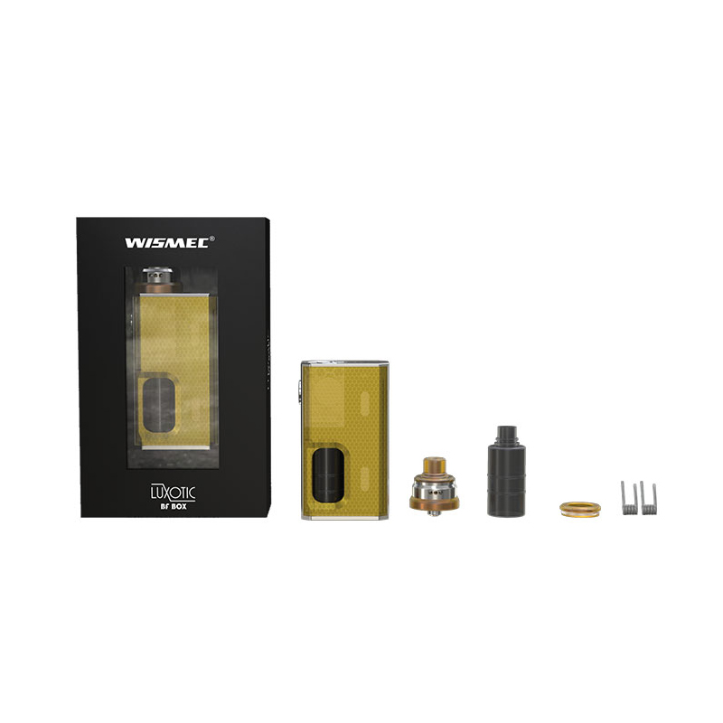 Wismec LUXOTIC BF Box Kit with Tobhino BF RDA 7.5ml Bottle 100W Vape Mod with Clapton Coil Fits 18650 Battery E Cig 012