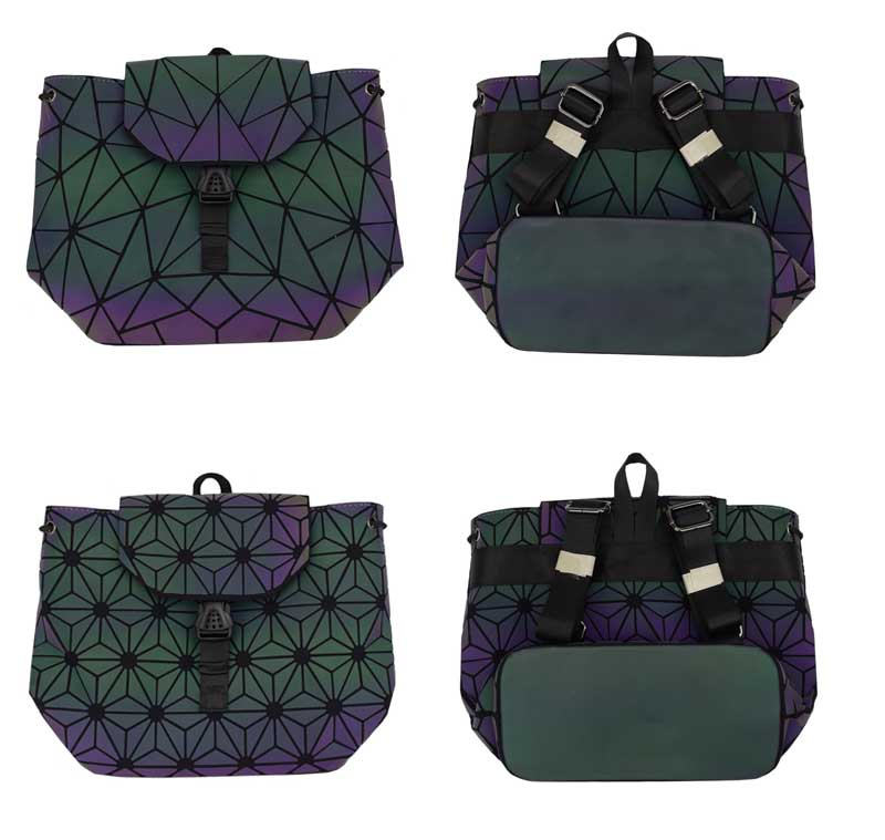 HTB17hjihIbI8KJjy1zdq6ze1VXaq Bao Women Backpack Luminous Drawstring Female Daily Backpack Geometry Backpacks Folding School Bags For Teenage Girls Mochila