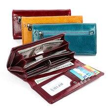 3b3ffd5f7cae1 Damskie portfele i portmonetki zamek klamra skórzany portfel damski na co  dzień retro pierwszą warstwę skóry