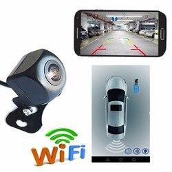 Fonwoon Upgrade Mini Wifi HD tylna kamera samochodowa noktowizor kamera cofania pojazdu wodoodporna bezprzewodowa dla IOS i androida w Kamery pojazdowe od Samochody i motocykle na