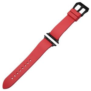 Image 3 - オレンジラバー時計バンドfluororubber用iwatch時計 38 ミリメートル 40 ミリメートル 42 ミリメートル 44 ミリメートルシリーズ 5 4 3 2 1 バンドスチールクラスプブレスレットメッキ