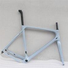 УГЛЕРОДНЫЙ гравий велосипедная рама полностью углеродная велосипедная рама дорожный велосипедный циклоскоп рама 140 мм дисковый тормоз