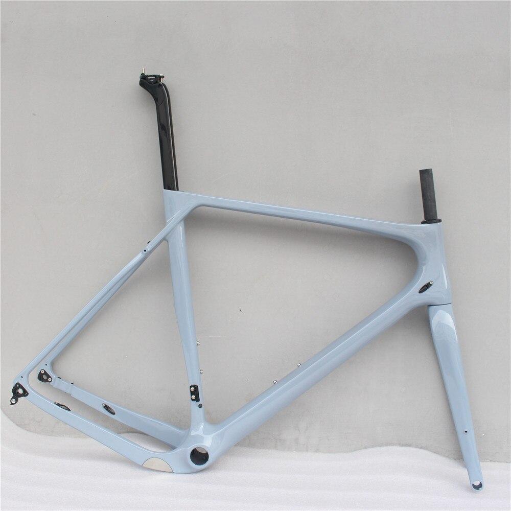 Cascalho de carbono conjunto de Quadros de Bicicleta Quadro de Bicicleta Cheia de Carbono Bicicleta de Estrada Quadro Cyclocross freio a disco 140 milímetros