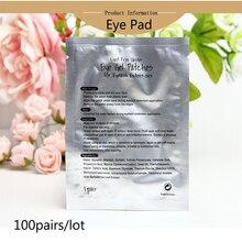 100 пар/лот безворсовой гель для глаз Бумага патчи под ресницы площадкой для наращивания ресниц с