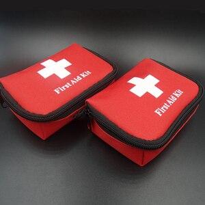Image 2 - 11 פריטים/28pcs נייד נסיעות חיצונית קמפינג חירום רפואי תיק תחבושת להקת סיוע הישרדות ערכות הגנה עצמית