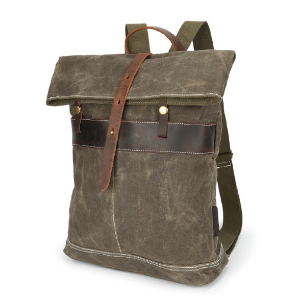 Oil wax canvas bag men's canvas shoulder bag retro batik waterproof travel backpack men bag