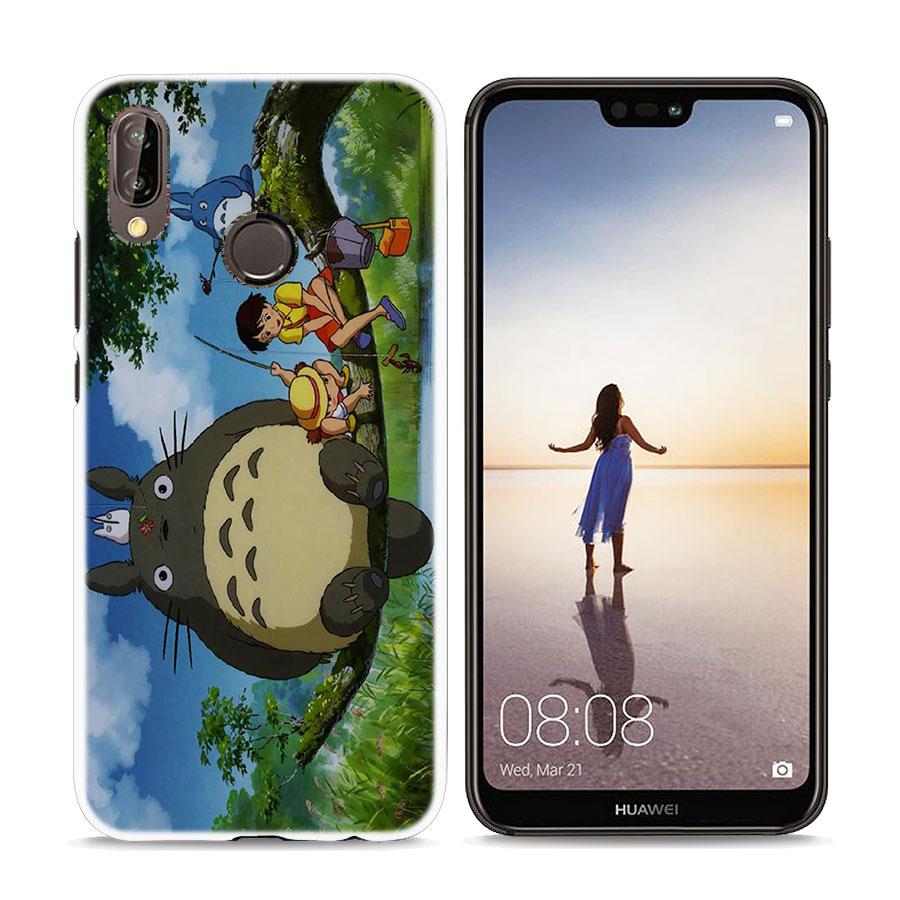 My Neighbor Totoro design Hard White Phone Case for Huawei P20 P20 Lite P Smart P10 P8 P9 Lite 2017 P10Lite