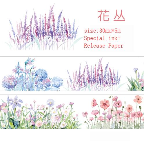 30mm The breath of summer Flowers in clusters Washi Tape DIY Scrapbooking Sticker Label Masking Tape School Office Supply Escola30mm The breath of summer Flowers in clusters Washi Tape DIY Scrapbooking Sticker Label Masking Tape School Office Supply Escola