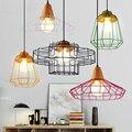 6PCS Fanlive Vintage Eisen Draht Birne Käfig Lampenschirme Hängen Lampe Halter Wache Shade Industrie Hause Licht Dekoration|Pendelleuchten|   -