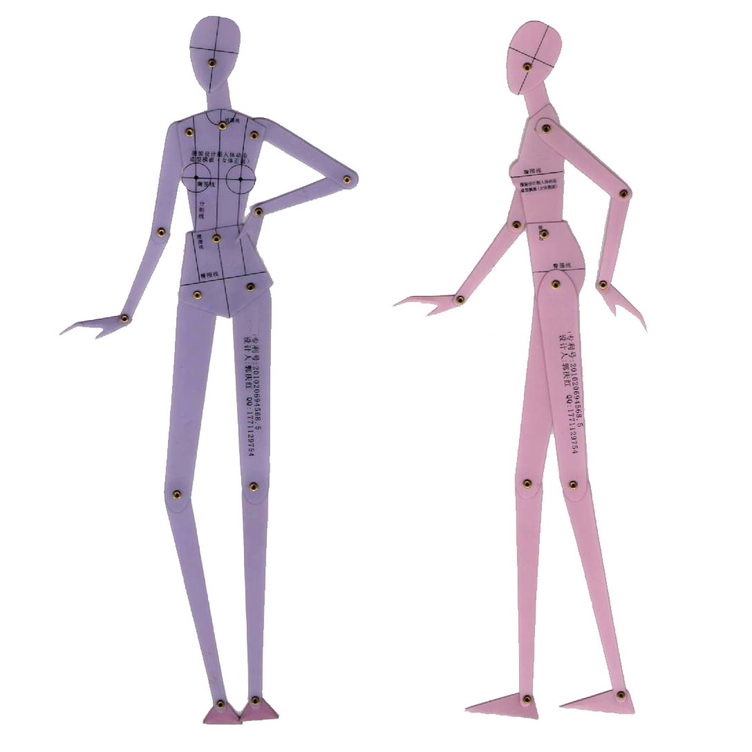 template body drawing ruler human hand dynamic effect garment rulers office