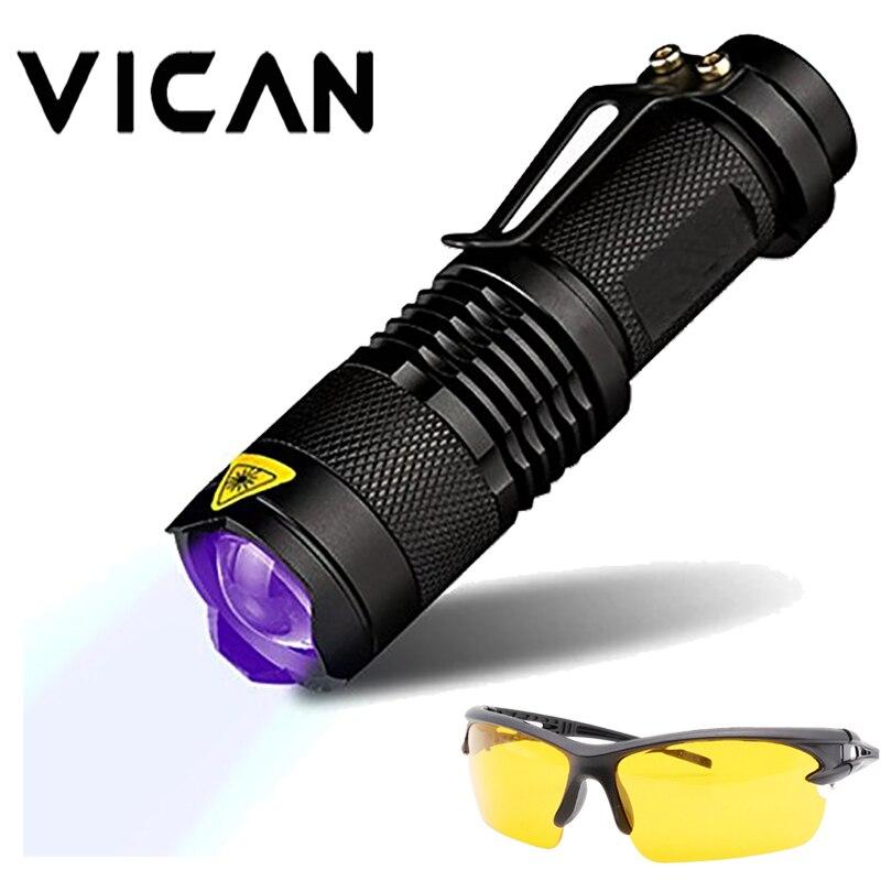 VICAN 365nm UV Blacklight Scorpion UV Light Pet Urine Detector, Zoomable 3 Mode 395nm Ultraviolet Flashlight