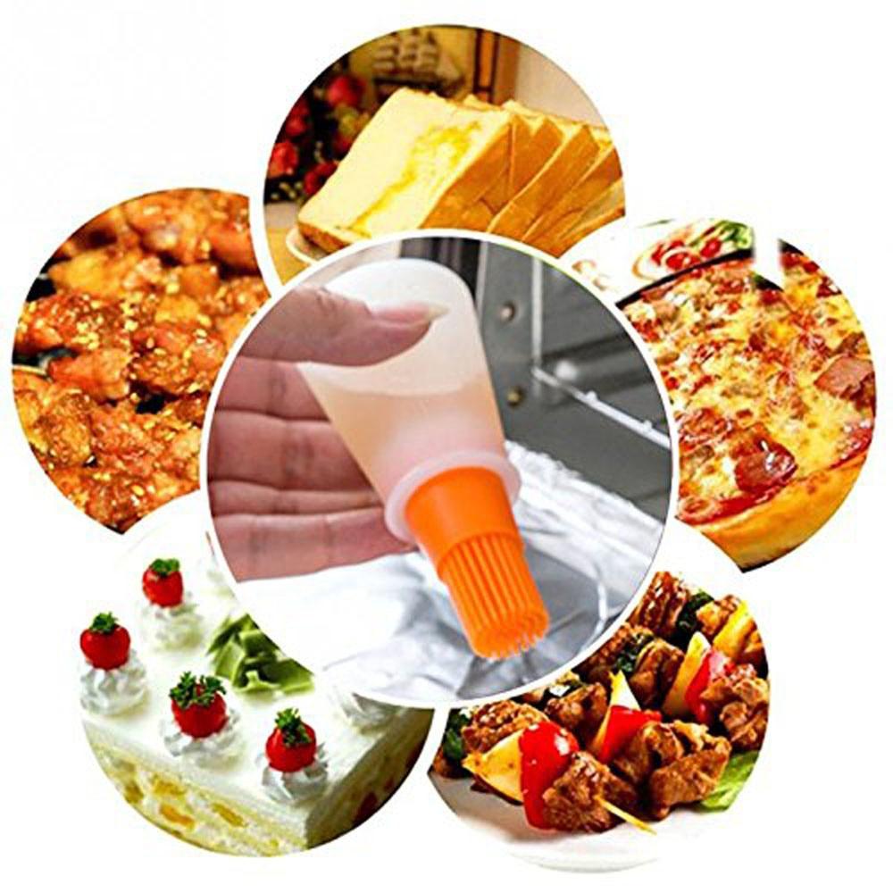 Силиконовая кисть для масла, кисти для выпечки, жидкое масло, ручка для торта, Масло Хлеб, ручка для жидкого масла, круглая щетка для барбекю, кухонный инструмент, новинка