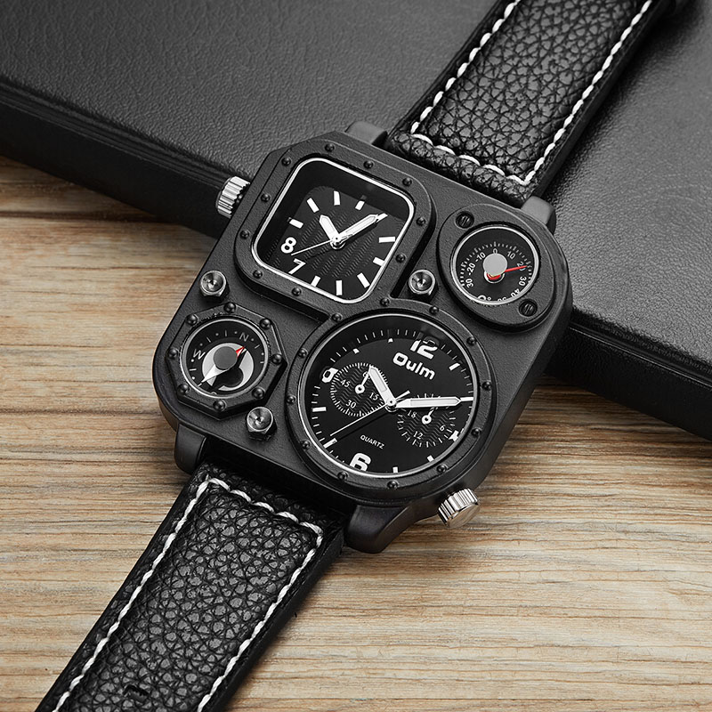 OULM Relogio Masculino Men Watches Luxury Famous Top Brand Men's Fashion Casual Dress Watch Military Quartz Wristwatches Saat цикл палки лыжные с рисунком 105 см цикл