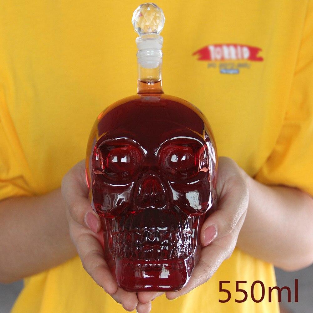 Crystal Skull Head Glass Vodka Bottles Skull Bottle Gothic Wine Whiskey Decanter