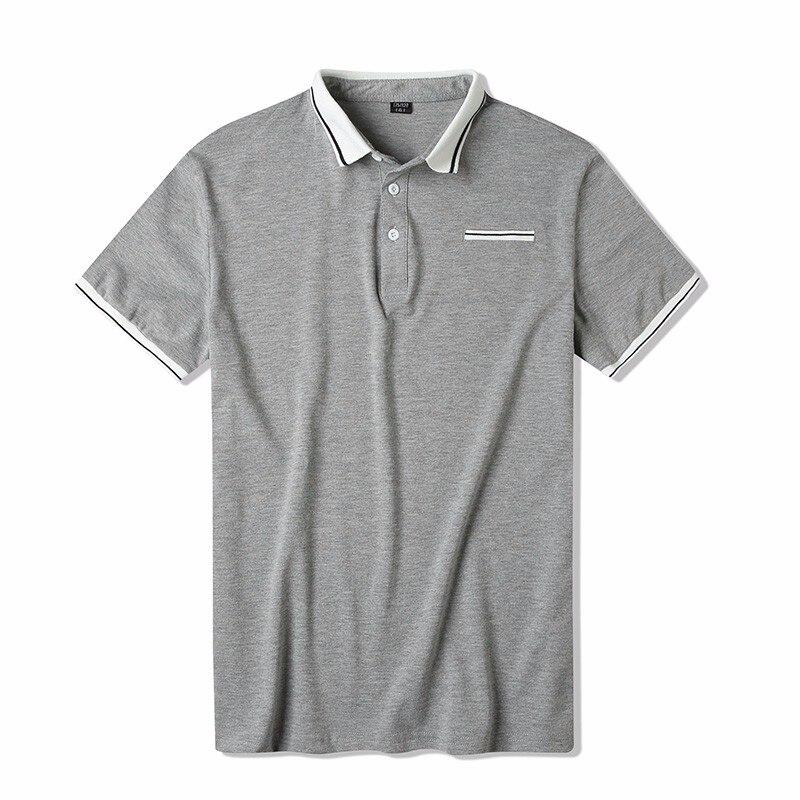 Sommer Männer Kleidung 2019 Neue Slim Fit Kurzarm Männer Polo Hemd Casual Mode Striped Drehen-unten Kragen Grau A121-s26 Top Wassermelonen