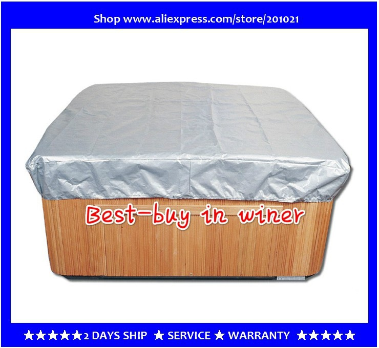 hot tub smart Spa Cap Size:213cm x 213cm x 30 cm ( 7' ft. x 7' ft. x 12 in. ) Lowest price spa cover bag Jacket blue wave 18 ft x 40 ft 12yr mesh safety green