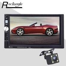 7080B 2 дин Mp3 MP5 плеер Bluetooth AUX/USB/FM рулевого колеса удаленного Управление Сенсорный экран Car Audio с заднего вида Камера
