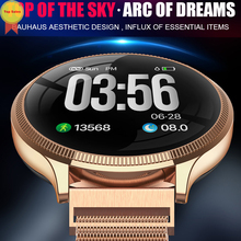 round shape android ios smart band 24 hours heart rate monitoring support system Health Access smarwatch for iphone