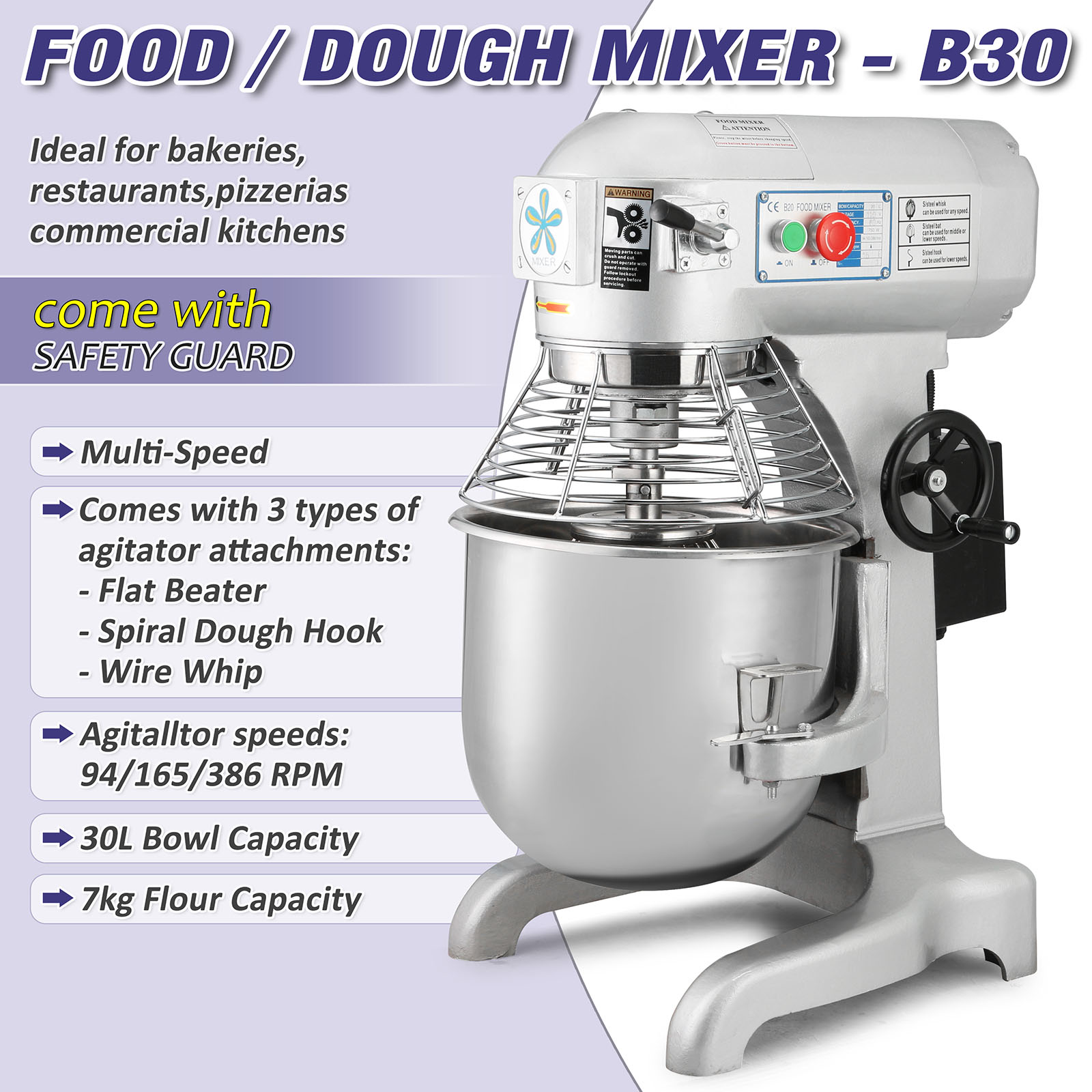 Dough Mixer Wiring Diagram Schematic Diagrams For Home Entertainment System 30qt Food Blender 1 5hp Brand New 30 Quarts Commercial Theater Connection