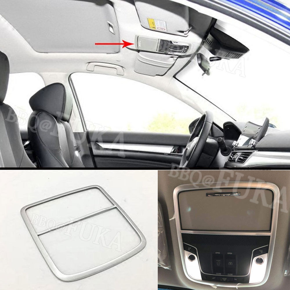For <font><b>Honda</b></font> 10th <font><b>Accord</b></font> <font><b>2018</b></font> ABS Roof Reading Light Lamp Glass +Box Trim Carbon Fiber/Silver Color Decorative Styling <font><b>Accessories</b></font> image
