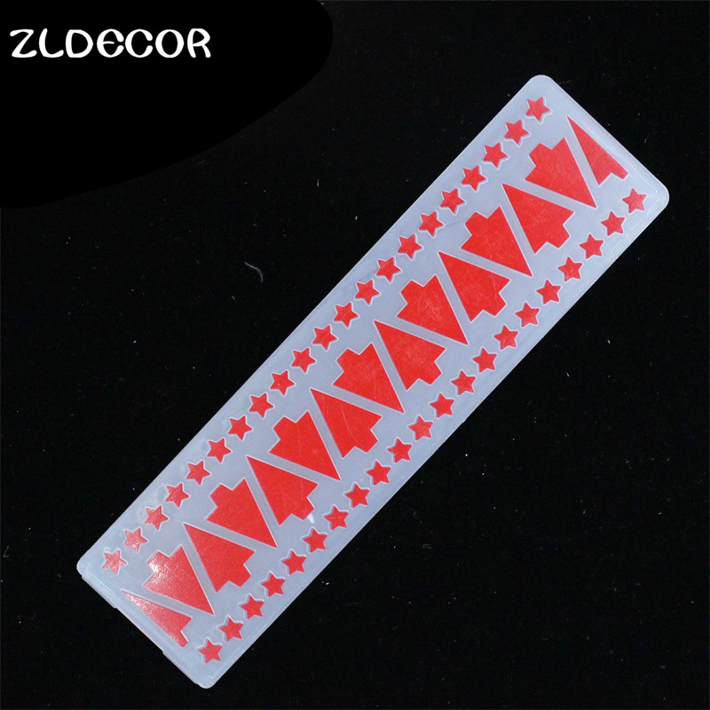 ZLDECOR Simple Christmas Tree Plastic Embossing Folders for DIY Scrapbooking Paper Craft/Card Making Decoration Supplies