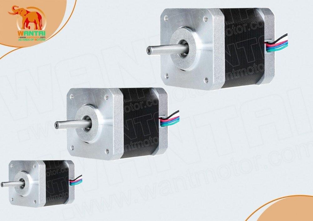 3PCS Nema17 0.9degree Stepper Motor 42BYGHM810 4200g.cm 42N.cm 60oz-in 48mm 2.4A CE ROHS ISO 3D Printer Reprap Robot CNC WANTAI3PCS Nema17 0.9degree Stepper Motor 42BYGHM810 4200g.cm 42N.cm 60oz-in 48mm 2.4A CE ROHS ISO 3D Printer Reprap Robot CNC WANTAI