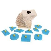 Монтессори формы сортировки головоломки Геометрическая доска образование дошкольников детские игрушки