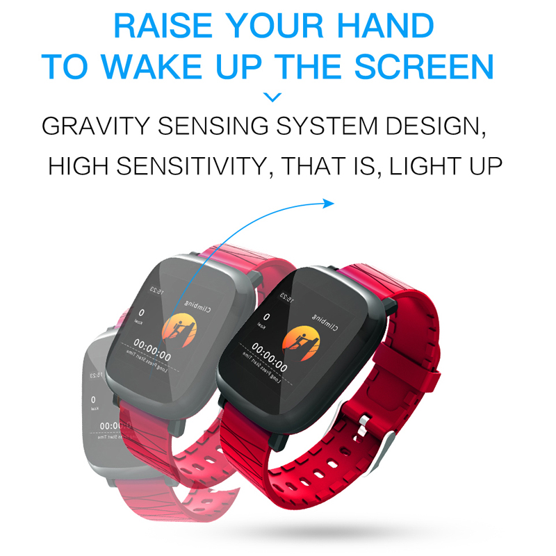 Sports Smart Watch Men Women Heart Rate Monitor Smart Bracelet Blood Pressure Measurement Waterproof Swim For IOS Android in Digital Watches from Watches