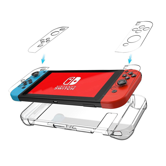 Funda protectora trasera transparente para funda de Gamepad para Nintend Switch NS NX funda para Nintendo Switch Ultra Thin PC transparente