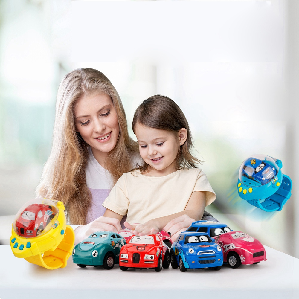 Aiboduo Baby Car Remote Control Car Remote Control Toy Mini Cartoon Gravity Sensing USB Rechargeable Induction Clock Baby Toys
