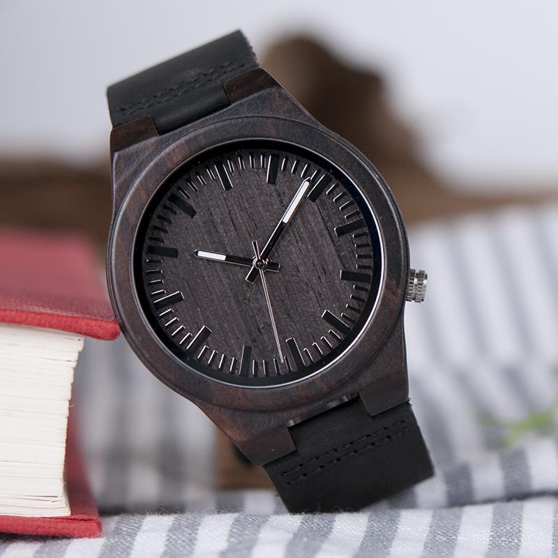 Zegarek drewniany Bobo Bird Dark B12 7