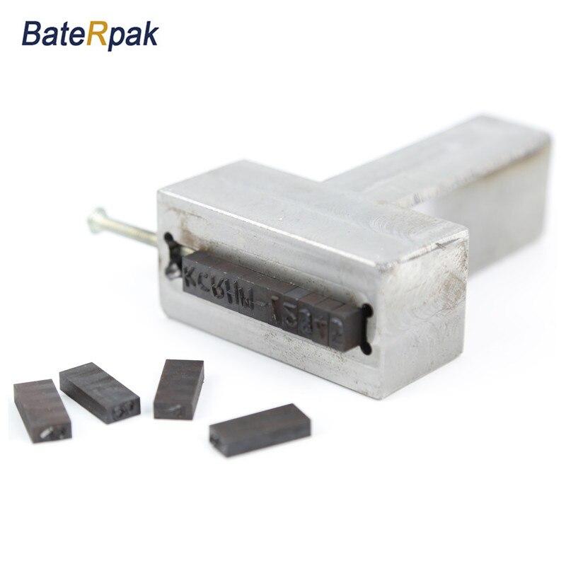 BateRpak voiture châssis VIN numéro éditeur, poignée Flexible timbre poinçon, combinaison type métal estampage die acier code mot poinçon