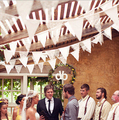 2015 new year DIY home decoration banner /event party supplies flag/Rustic Hessian garland& lace bunting / Country wedding decor