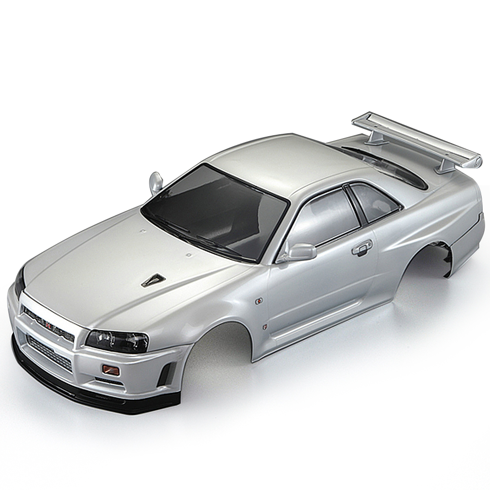 48644 257mm NISSANSKYLINE R34 Finished DIY RC Car Body Shell Frame for 1 10 Electric Touring