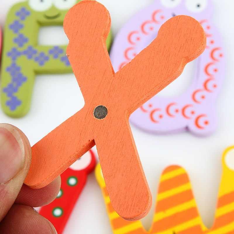 NuoNuoWell Игрушки для маленьких детей 26 шт. английские буквы Дети Деревянный Алфавит магнит на холодильник детские развивающие игрушки Новы