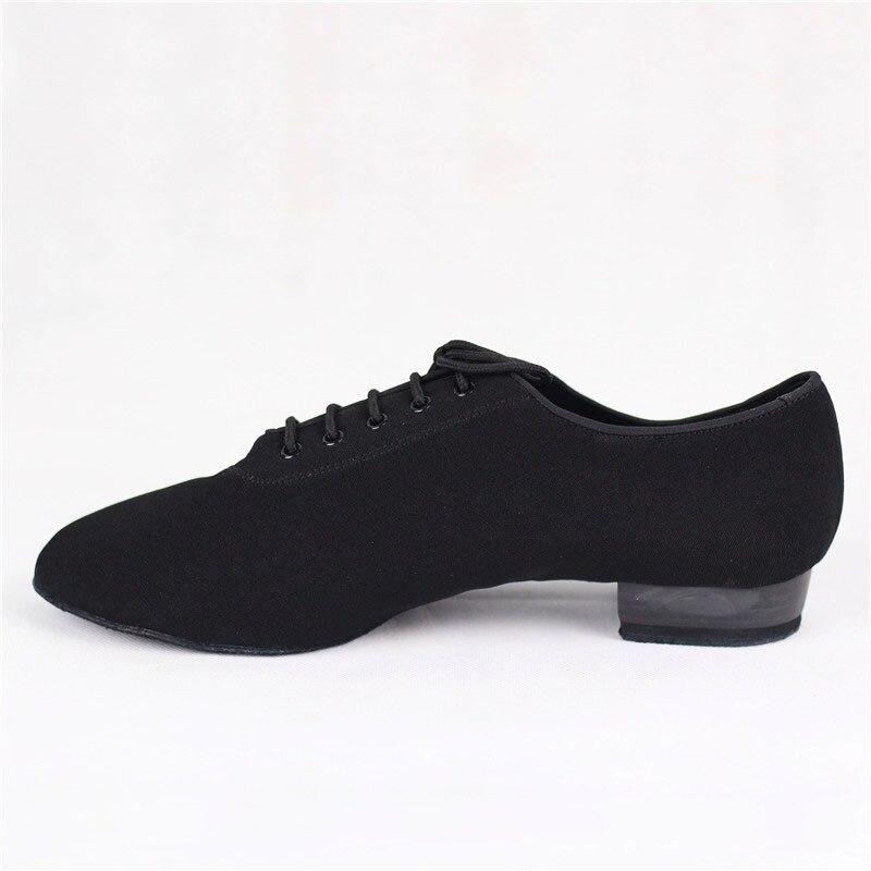 Hommes chaussures de danse Standard BD309 chaussure de salle de bal toile clouée Split semelle pratique compétition hommes moderne danse chaussure Dancesport - 3
