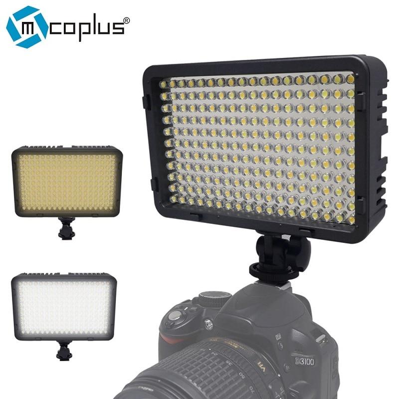 Mcoplus 260 Bi-Color 3200K/7500K LED Video Light for Canon,Nikon, Pentax, Sansung Digital SLR Camrea and DV Camcorder dste d li109 replacement 7 4v 2100mah li ion battery for pentax k 30 k r k 50 k 500 slr cameras