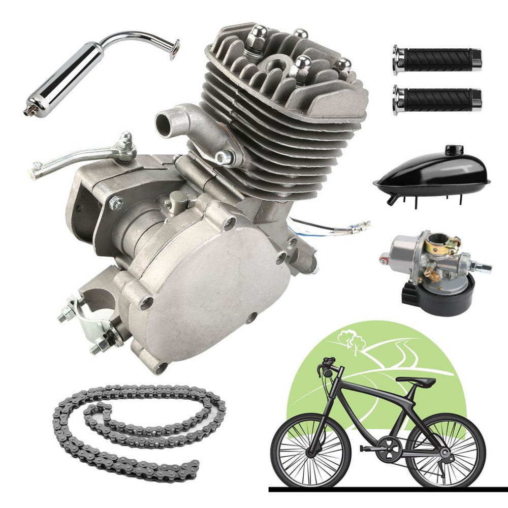 High Quality Professional 80CC 2-Stroke Engine Motor Start Starter Pockets Mini Bike Scooter Two Stroke Bicycle Engine Kits ship from usa 2 stroke 80cc motor blike bicycle engine kits gas bike kit c80 with suitable price