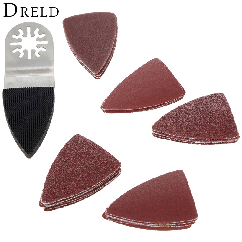 25Pcs Oscillating Multi-tool Sanding Paper Sander Sheet+Finger Sanding Pad For Multimaster Dremel Renovator Bosch Power Tools