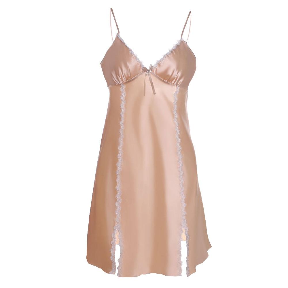 Damen-nachtwäsche 8 Unterwäsche & Schlafanzug Aktiv Frauen Pyjamas Sexy Dessous Frauen Nachtwäsche Satin Spitze Chemise Nachtwäsche Plus Größe Kleid Frauen Pyjamas Silk Frauen Pyjamas
