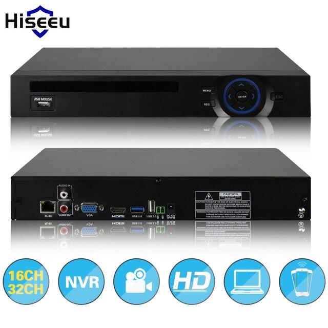 2HDD 16CH CCTV 32CH NVR 720 P 960 P 1080 P 3 M 5 M DVR de Red Grabador de vídeo H.264 P2P Onvif 2.0 para Ip 2 SATA XMEYE nube