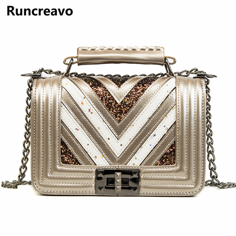 7cce31e98b New Chain Paillette Women Messenger Bags Tote Shoulder Leather Handbags For Famous  Luxury Brand Designer Bolsa Feminina Sac 2018