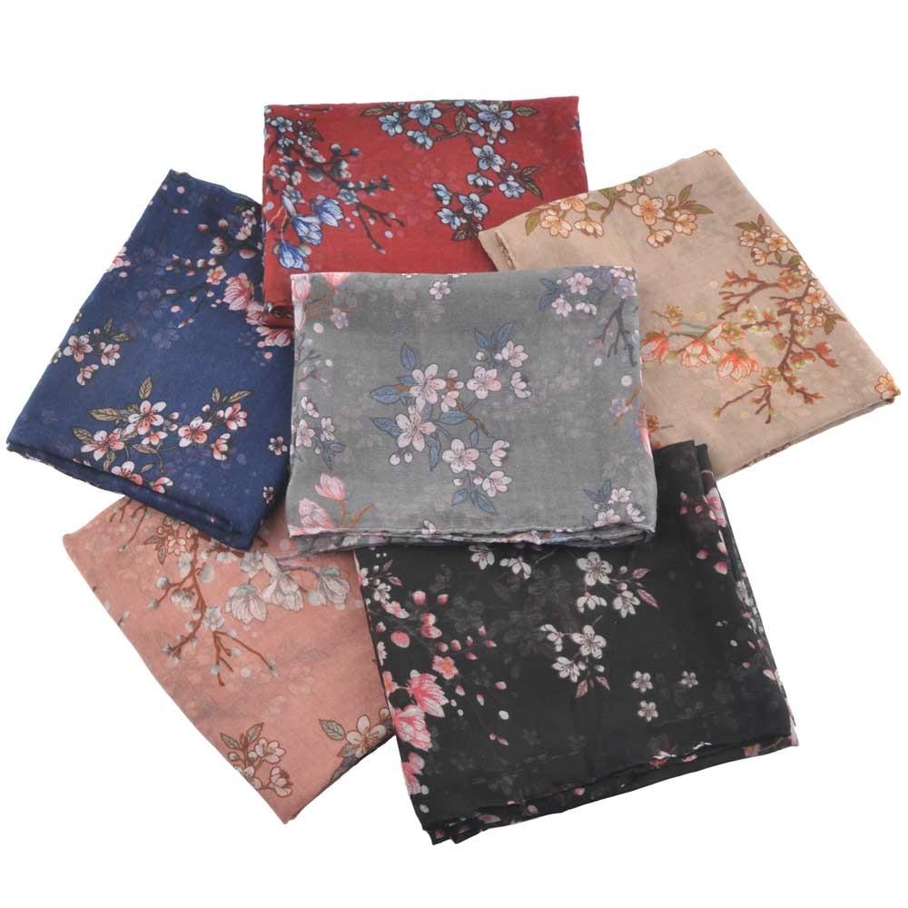 Women Floral Scarf Summer,Muslim Hijab,shawls And Scarves,viscose Floral Hijab,head Wrap,flower Shawl,korean Beach Scarf Style