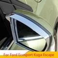 Zlord автомобильный хромированный защитный чехол для зеркала заднего вида Наклейка на зеркало заднего вида для Ford Ecosport Kuga Escape 2012-2017