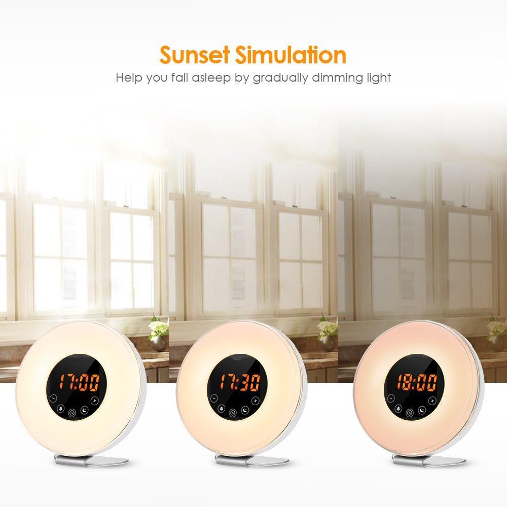 led alarm clock sun rise