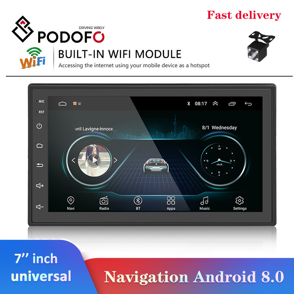 Podofo 2 Din Car radio Android Multimedia Player GPS Navigation 7″ HD Touch Screen Digital Display Universal auto Audio Stereo-in Car Multimedia Player from Automobiles & Motorcycles on Aliexpress.com | Alibaba Group