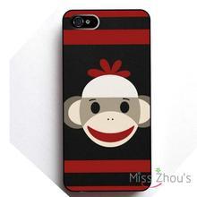 22a6047b075 Lindo monkey face protector de la piel de la espalda casos celular móvil  para iphone 4