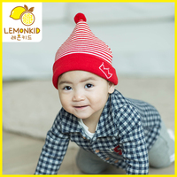 Wholesales Knitted Kids Winter Warmer Autumn Striped Baby Beanie Crown 4 Colors Boys Girls Winter Hats