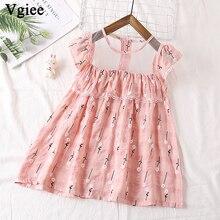 Vgiee Dress for Baby Girl Dresses 2019 Summer Party Princess Dress Sleeveless for Flower Print Little Girls Clothing CC336